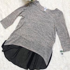 Bar III Tunic Shirt/ Half Sheer